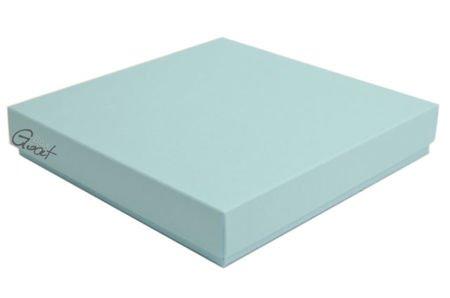 Pudełko na kartkę kwadratową błękitne matowe - GoatBox