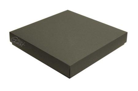 Pudełko na kartkę kwadratową czarny mat - GoatBox