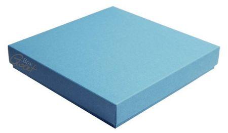 Pudełko na kartkę kwadratową niebieskie ze strukturą - GoatBox
