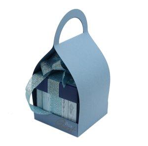 Trzymak nosidełko na exploding box - niebieski ze strukturą